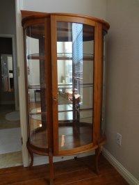 Curved Glass Curio Cabinet Value   My Antique Furniture ...