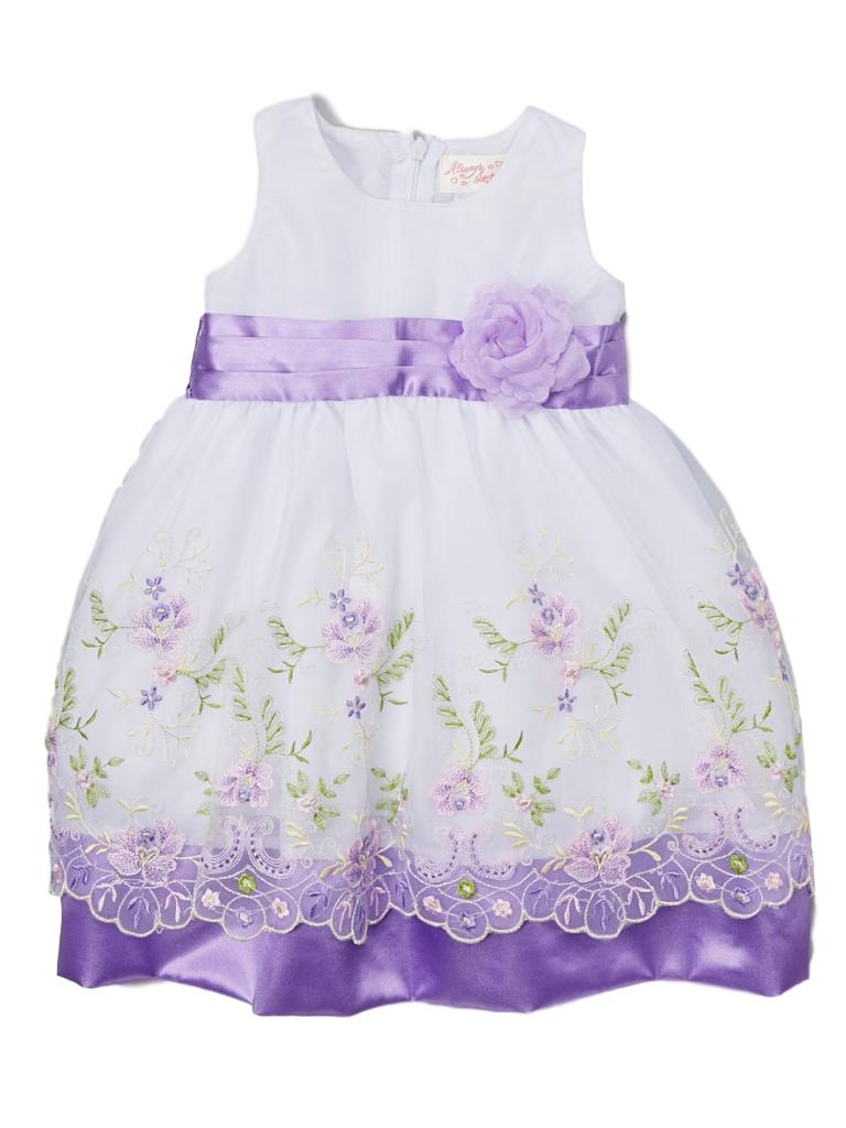 Piece Unik Unik Big Girls Lavender Floral Embroidered Easter Junior Bridesmaid Dress 8 10