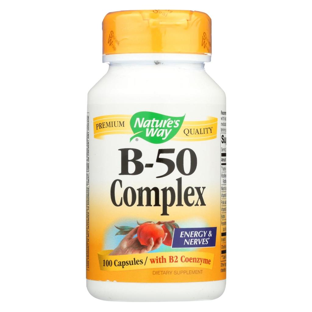 Foods Vitamin B 50 Nature S Way Vitamin B 50 Complex 100 Capsules