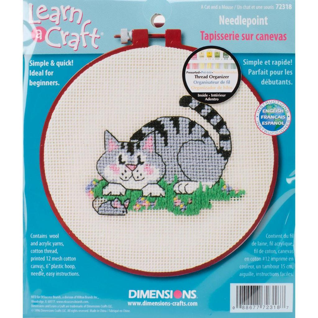 Tapisserie Om Learn A Craft A Cat And A Mouse Needlepoint Kit 6
