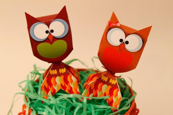 HARVEST Owl LOLLIPOP Favor Box - DIY Printable Piggy Bank Parties