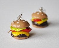 Polymer Clay Cheeseburger Earrings on Storenvy