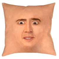 """Creepy Cage Face Throw Pillow, 14"""" or 16"""" square with or ..."""