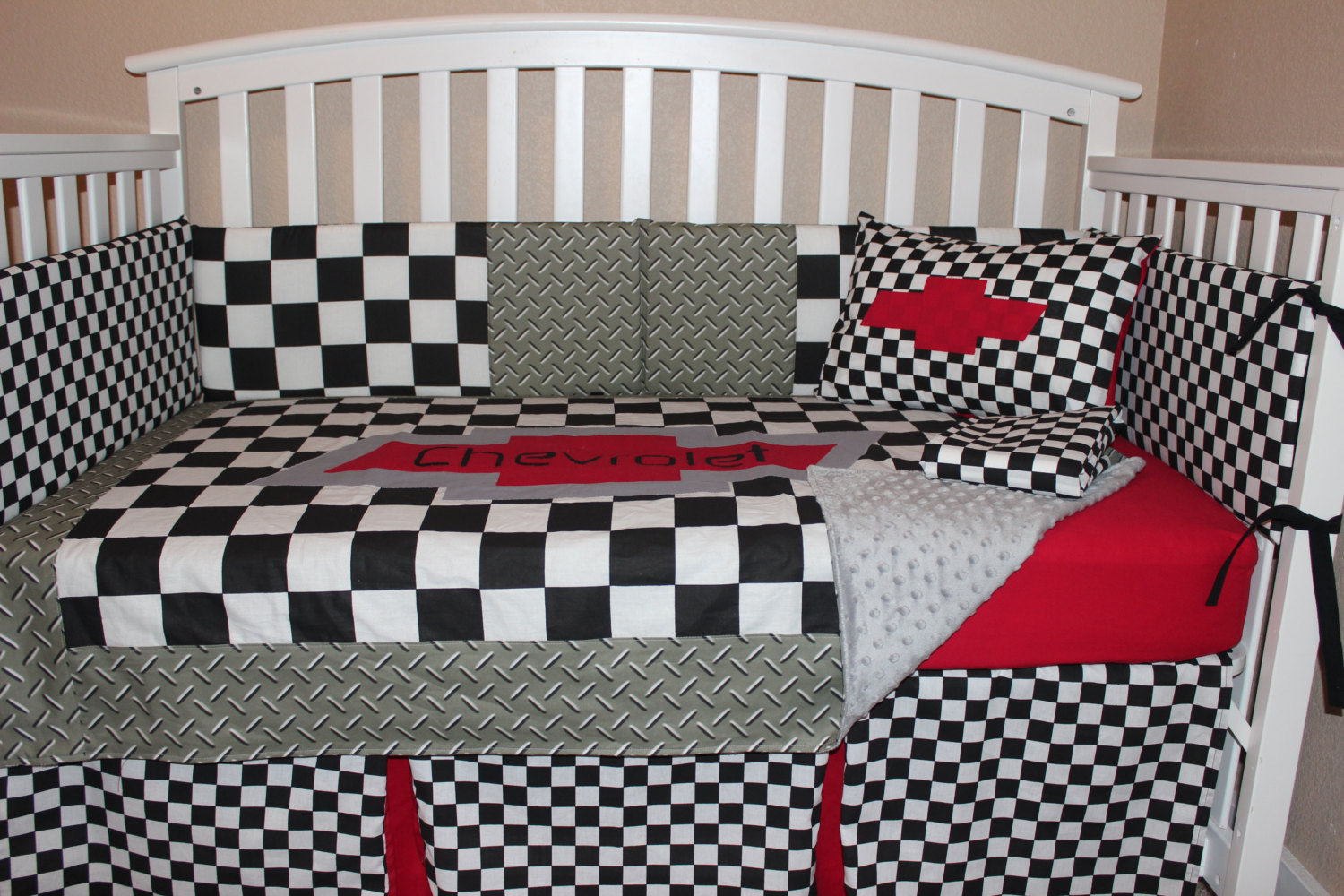 Full Crib Bedding Sets Chevrolet 6 Piece Crib Bedding Set