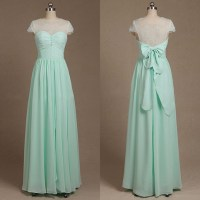 Beautiful Illusion Bridesmaid Dresses, Short Sleeve ...