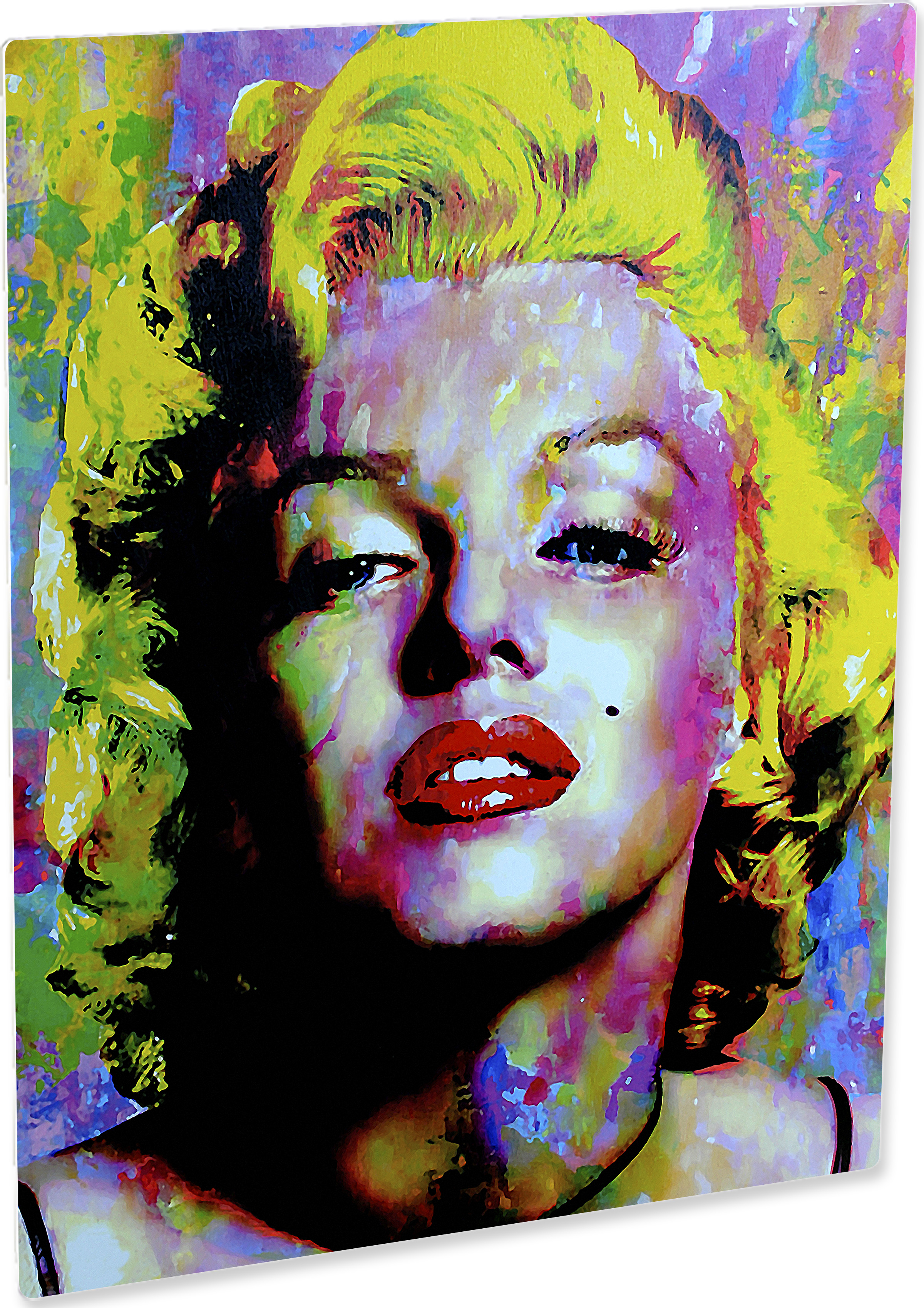 Art Marilyn Marilyn Monroe Relinquished Beauty Hd Metal Art Print Signed By Famed Mark Lewis