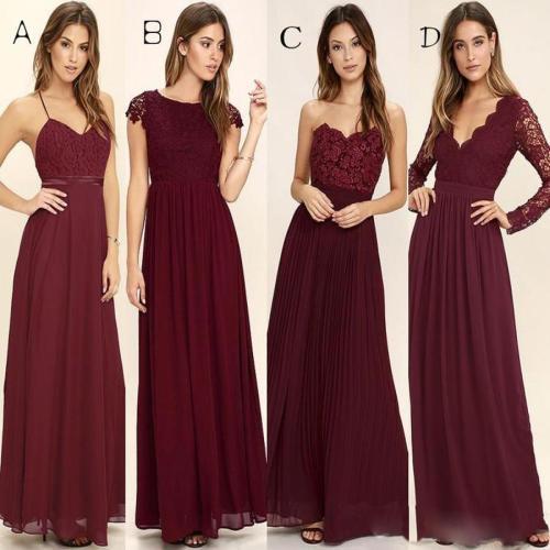 Medium Of Burgundy Bridesmaid Dresses