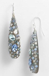 Alexis Bittar Periwinkle Gray Dust Teardrop Crystal ...