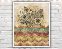 The Incredible Journey - 11 x 14 paper print, bohemian art ...