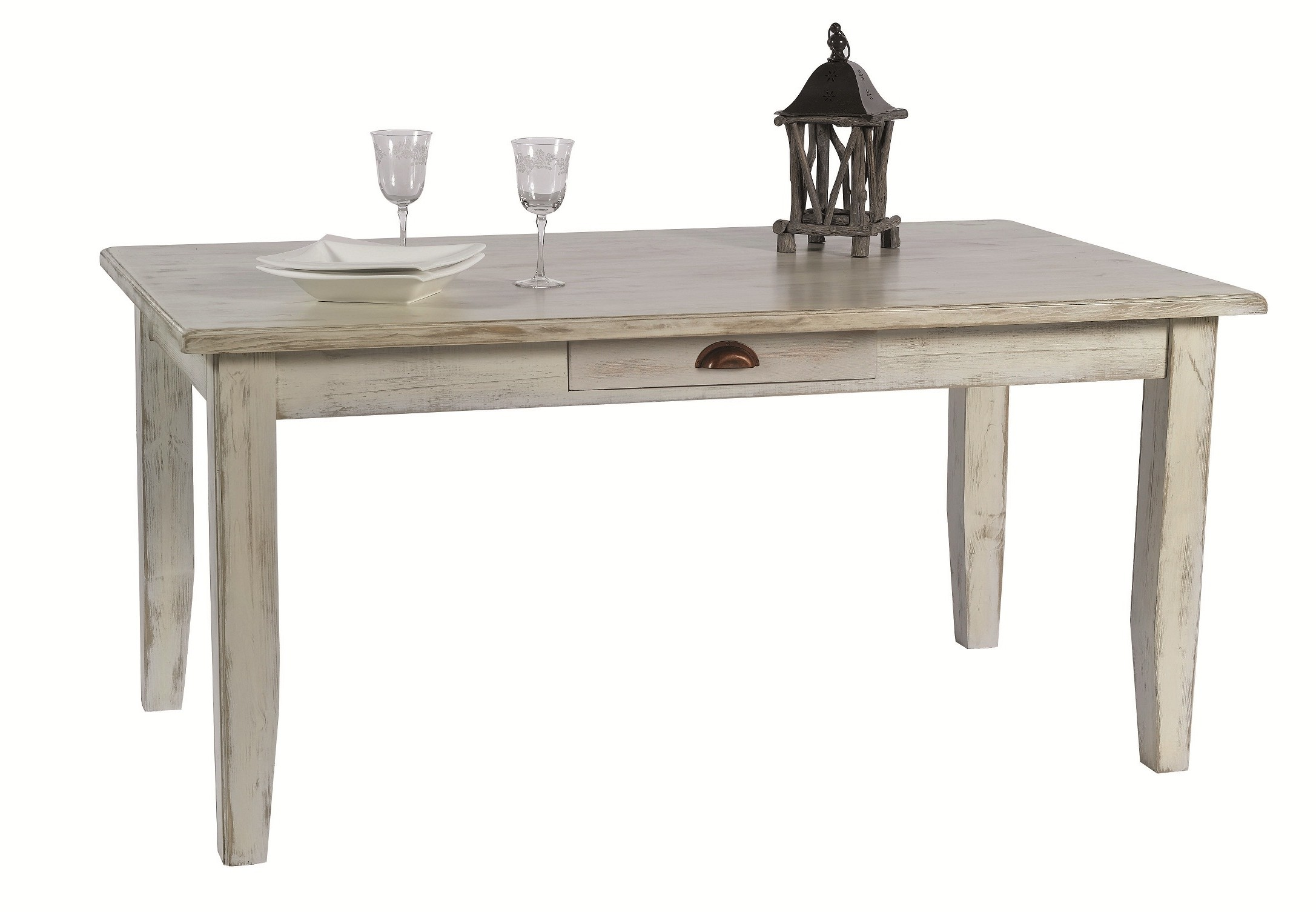 Table Repas Extensible Table Repas Rectangle Extensible Pin Blanc 160 260cm Rivage