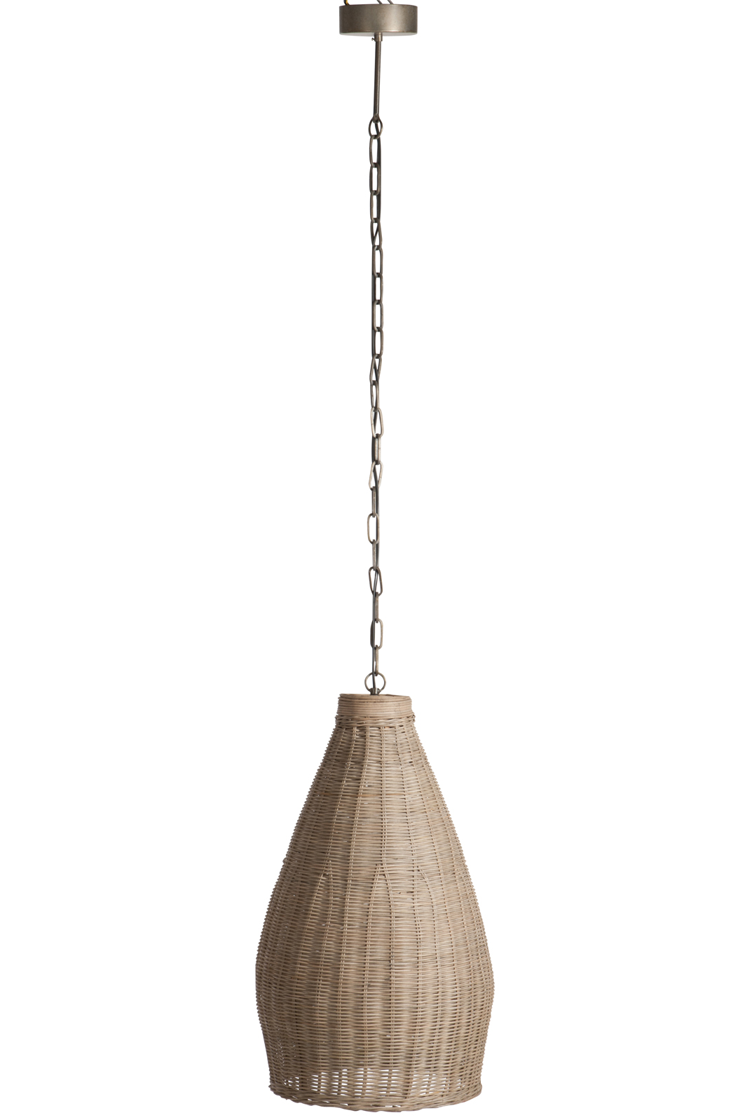 Plafonnier Bois Naturel Plafonnier Long En Bambou Naturel Et Suspension Métal 37x37x165cm