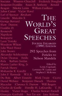 The World's Great Speeches Books