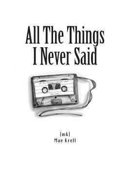 All the Things I Never Said Books