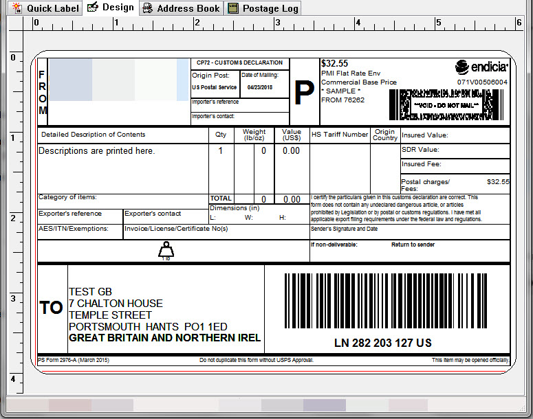 How to print international shipping label on thermal printer