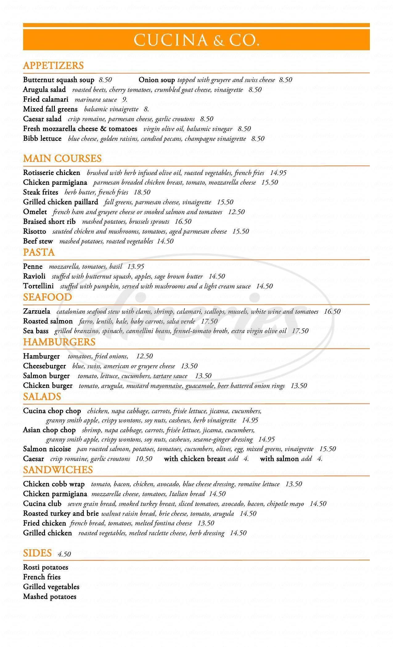 Cucina And Co Menu Cucina Company At Metlife Bldg Menu New York Dineries