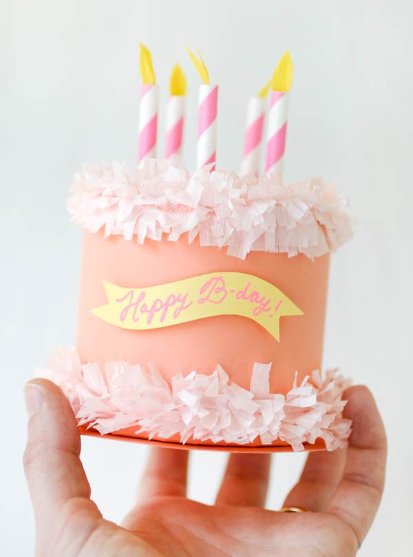 Paper Birthday Cake Box   Birthday Cake Card Template  Birthday Cake Card Template