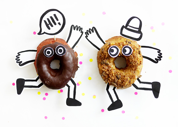 Printable Donut Buddies - donut template