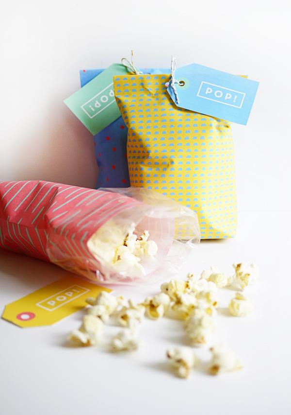 Printable Popcorn Bags