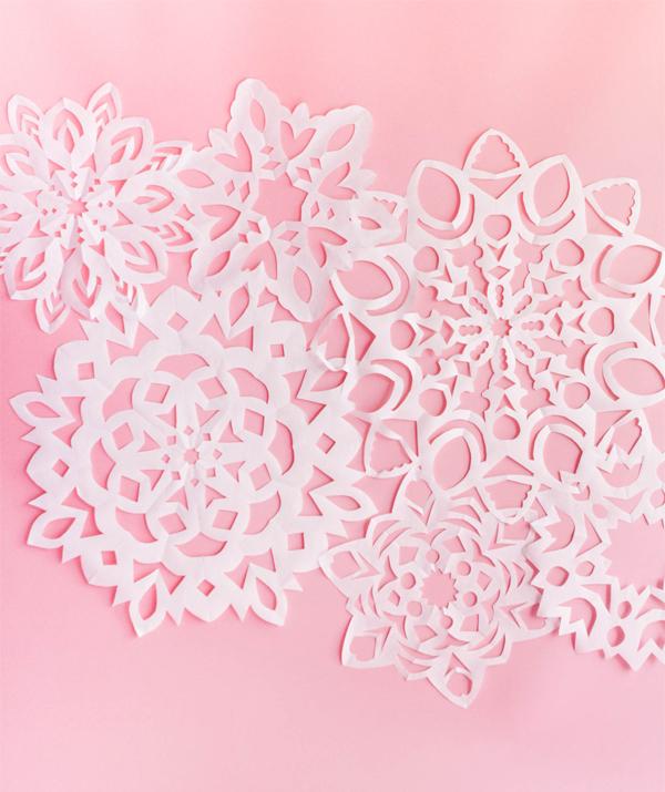 Giant Paper Snowflakes
