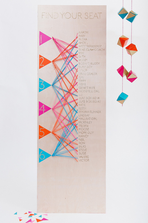 10 Everyday Items for Affordable Wedding Decor - printable seating charts