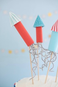 4th of July Rocket Cake Toppers