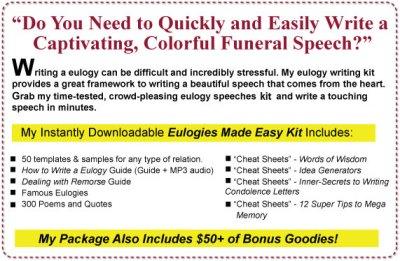 Eulogy Speech Template   Eulogy Templates for Funeral Speeches
