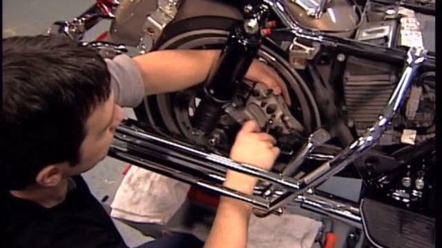 How to replace brake pads on a Harley