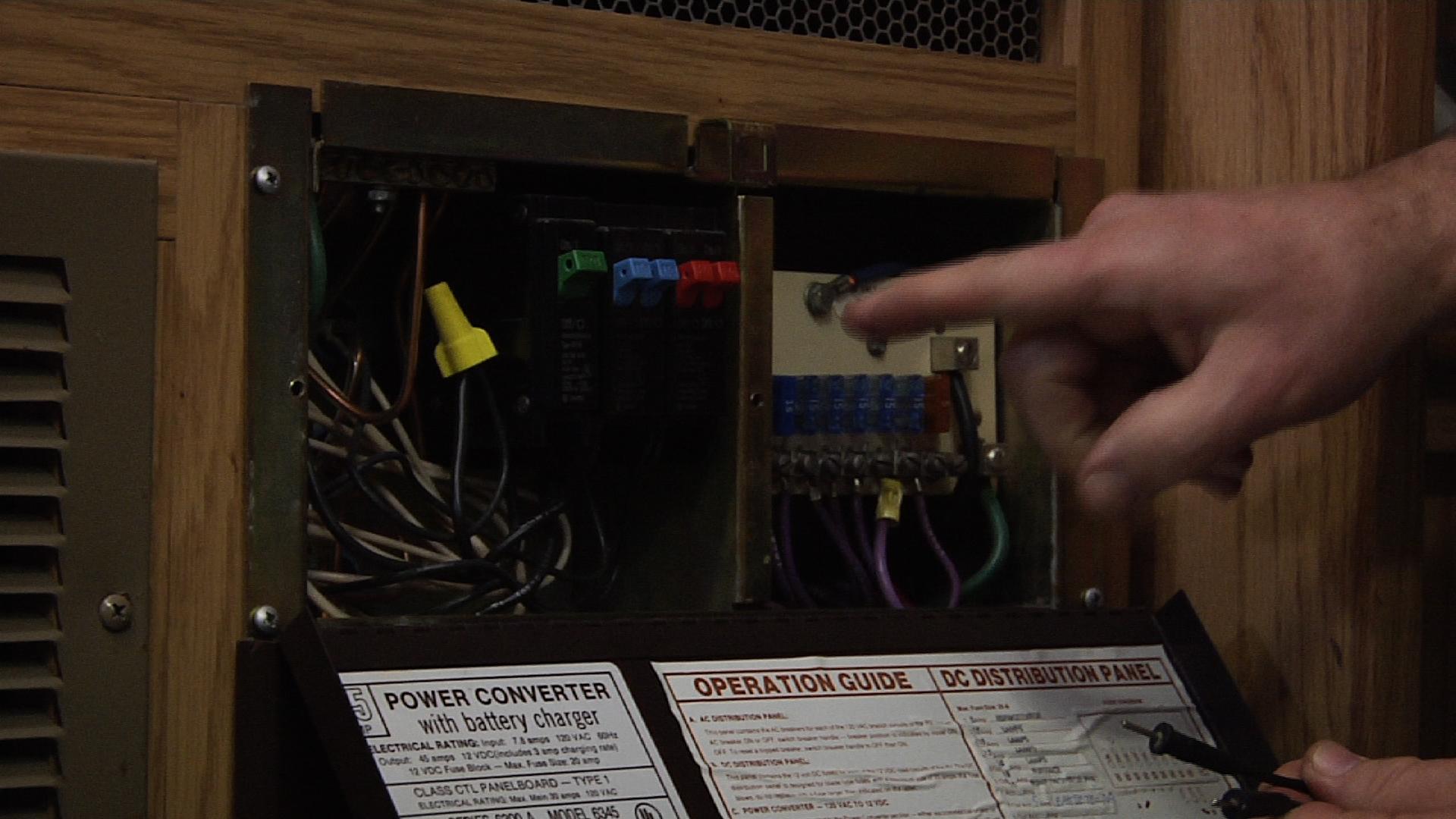 coleman pop up camper fuse box under battery