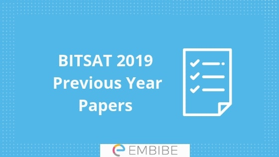 BITSAT Previous Year Question Papers  Solutions Download Free PDF