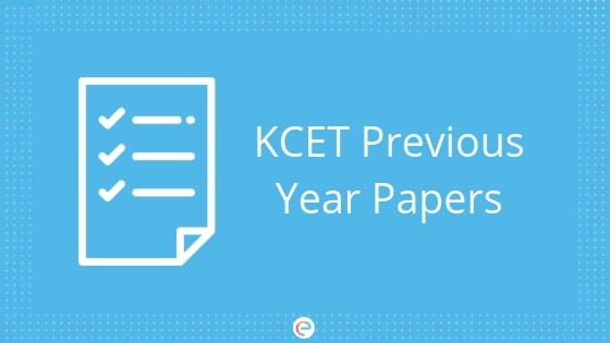 KCET Previous Year Papers Download Last 10 Year KCET Question