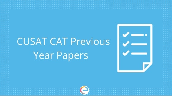 CUSAT CAT Previous Question Papers Download Free CUSAT CAT Previous