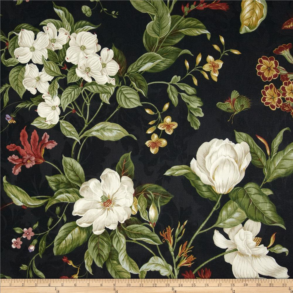 Black Velvet Damask Wallpaper Waverly Garden Images Black Discount Designer Fabric
