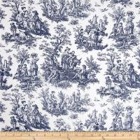 Waverly Rustic Life Toile Navy - Discount Designer Fabric ...