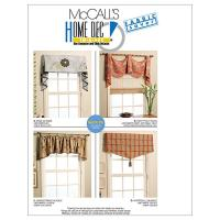 McCall's Window Treatments Pattern M5872 Size OSZ