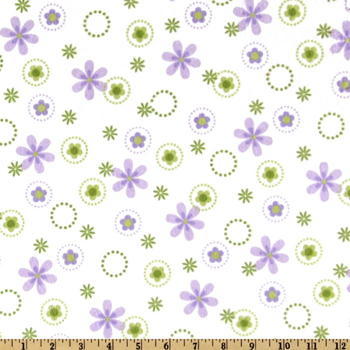 Cozy Cotton Flannel Floral Spring - Discount Designer Fabric - Fabric