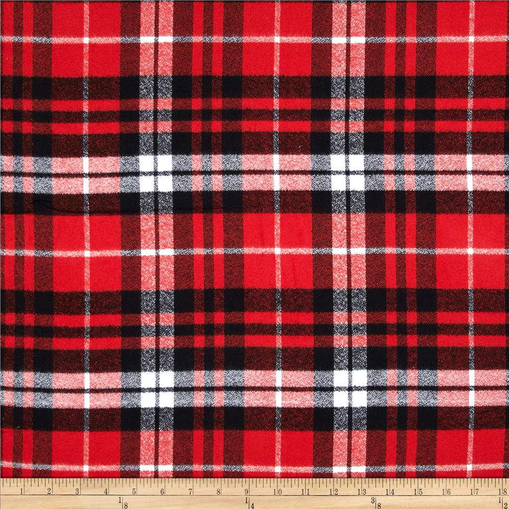 Manly Fall Wallpaper Kaufman Mammoth Flannel Plaid Scarlet Discount Designer