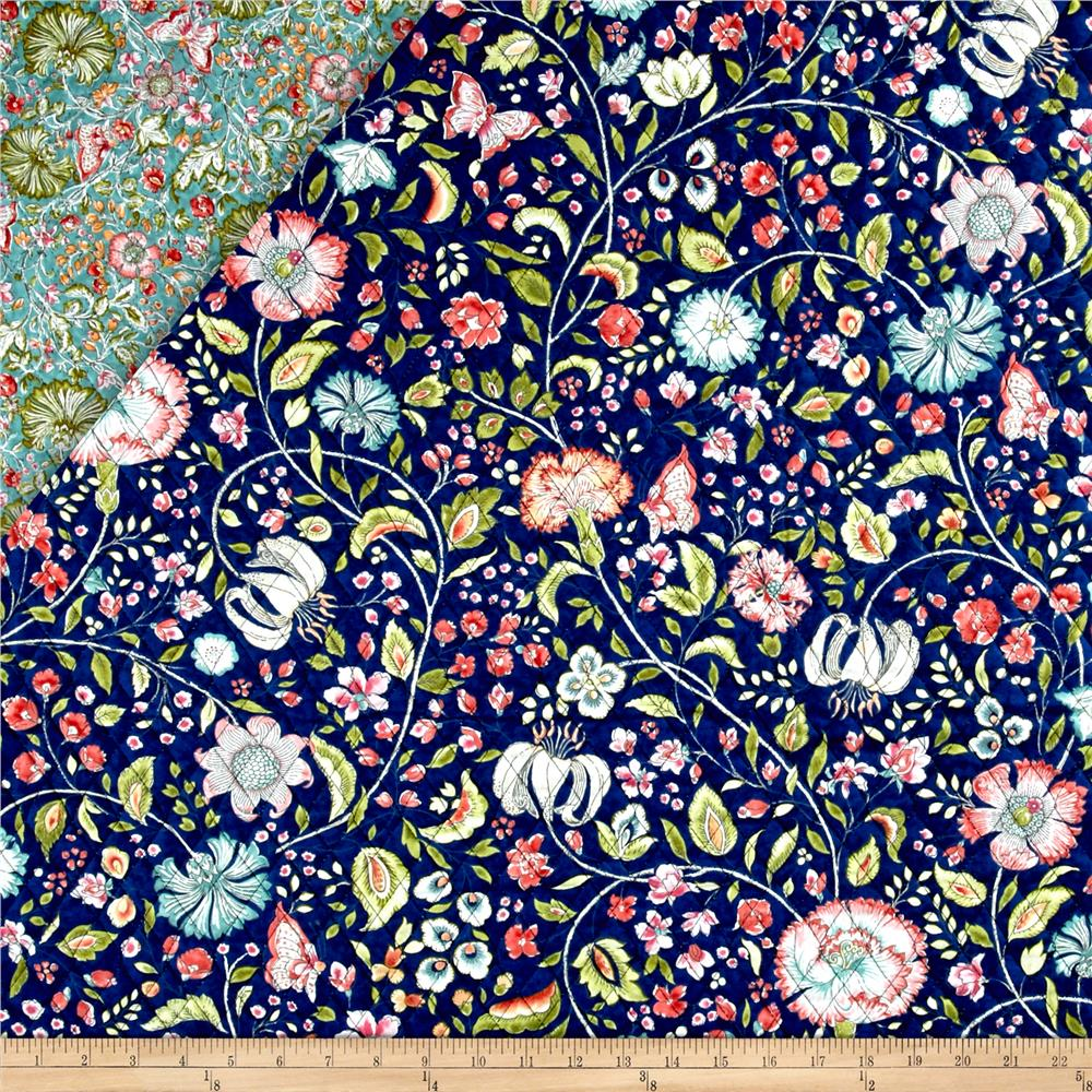 Quilted Fabric Samsara Double Sided Quilted Vine Floral Multi