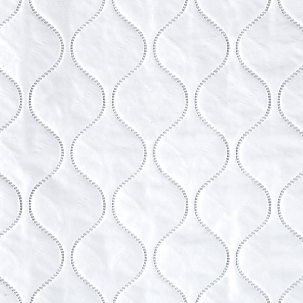 Quilted Fabric Quilted Vinyl Solid White
