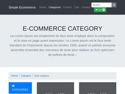 Bootstrap Ecommerce Examples