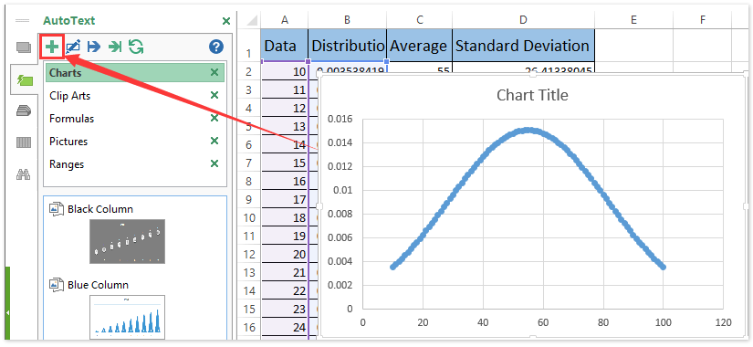 bell curve excel template download