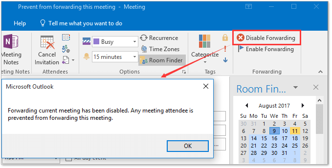 How To Prevent Attendees From Forwarding Outlook Meeting