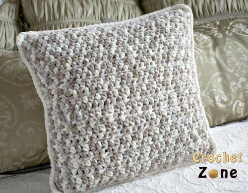 Neutral Crochet Pillow Pattern Allfreecrochetcom