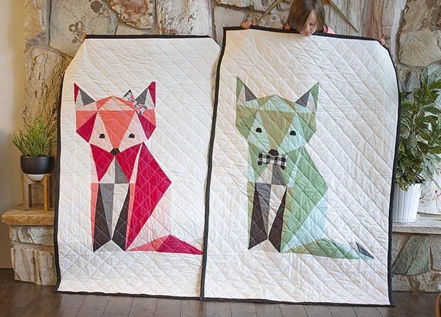 Twin Fox Quilt Pattern Favequiltscom