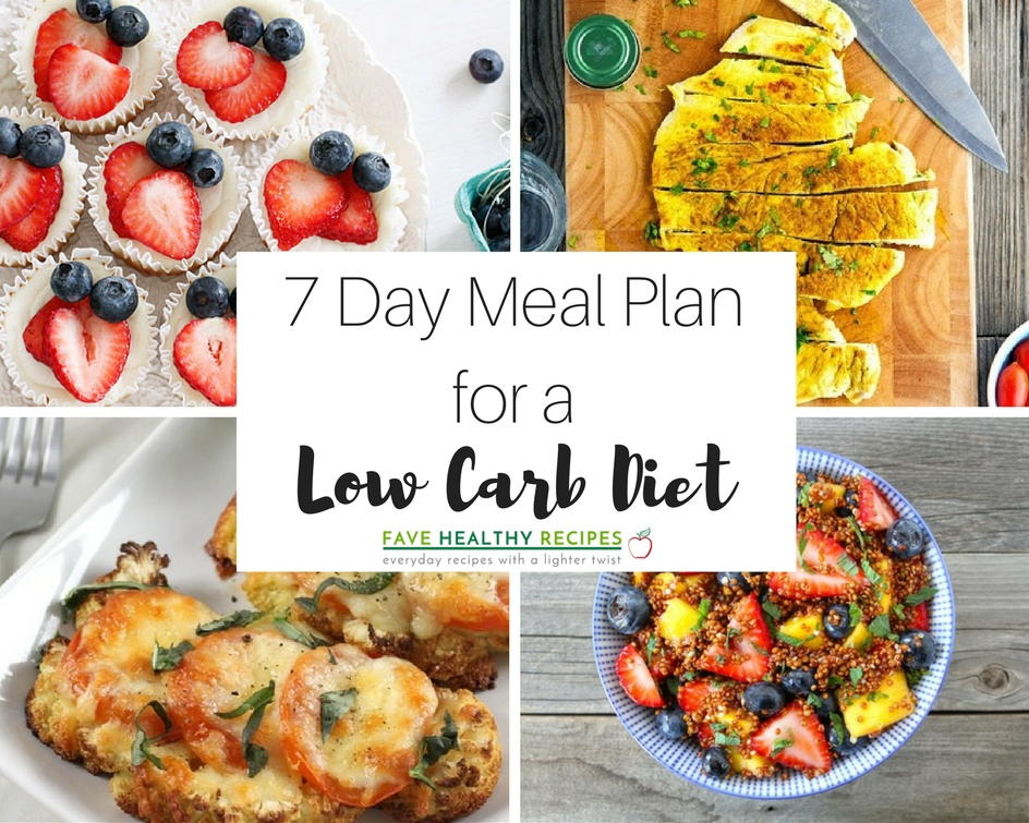 7 Day Meal Plan With All Low Carb Diet Recipes