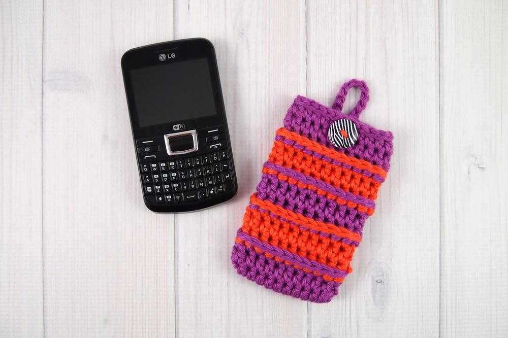 Bold Stripes Cell Phone Cozy Allfreecrochetcom