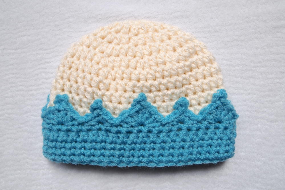 Crochet Crown Beanie Allfreecrochetcom