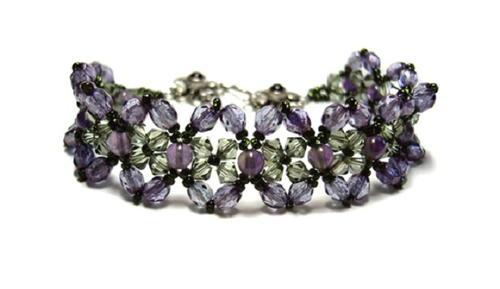 Amethyst And Crystal Bracelet Allfreejewelrymakingcom
