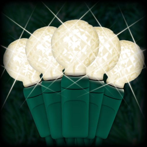LED warm white Christmas lights 50 G12 mini globe LED bulbs 4