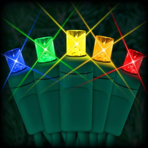 LED multi color Christmas lights 50 5mm mini wide angle LED bulbs 6