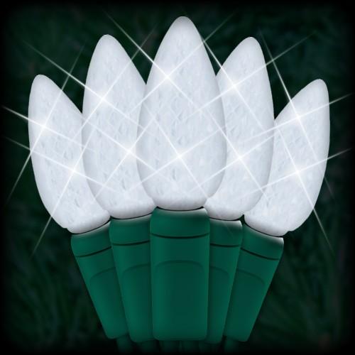 LED cool white Christmas lights 35 C6 LED strawberry style bulbs 4